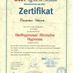 Hypnose-Zertifikat